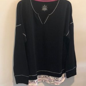 Nwot cuddle Duds sweat shirt
